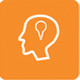 Image of a person with an idea lighbulb icon