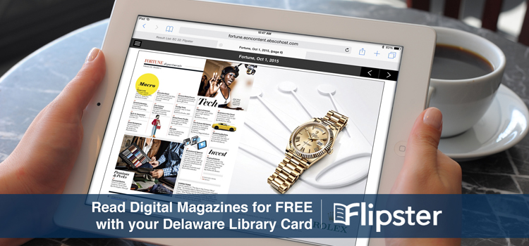 Picture of a person reading an Online Magazine on Flipster